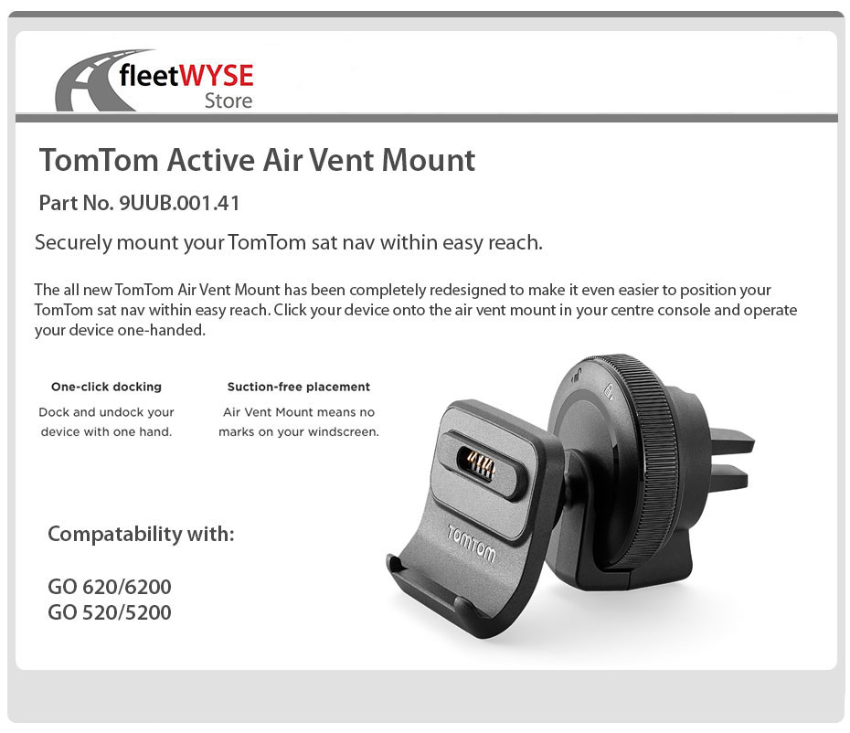 tomtom active air vent mount go 620 6200 520 5200. Black Bedroom Furniture Sets. Home Design Ideas