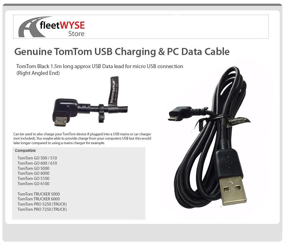 Genuine Tomtom Micro Usb Pc Data Cable Go 5100 6100