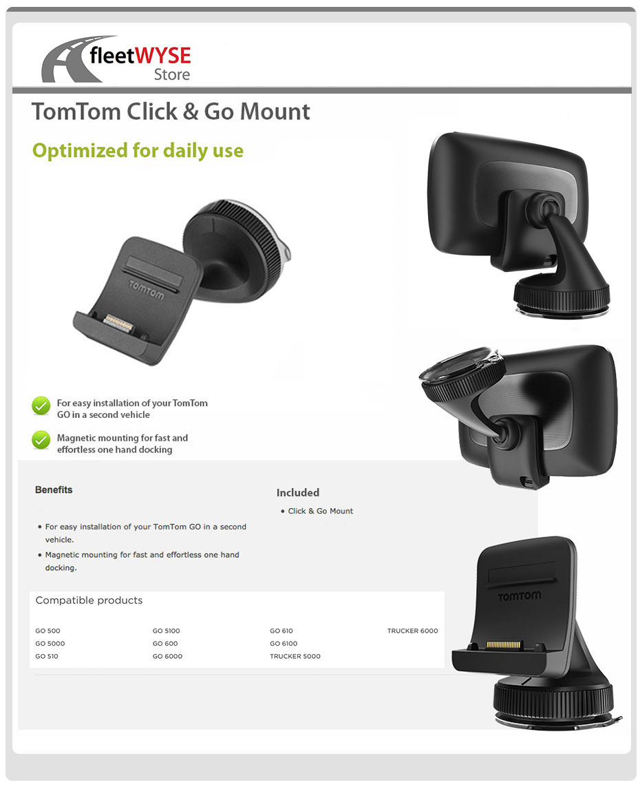 tomtom click go mount go 500 510 600 610 5000 6000 6100 636926064040 ebay. Black Bedroom Furniture Sets. Home Design Ideas